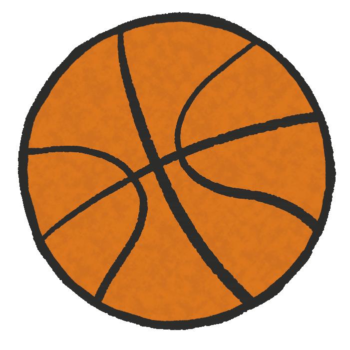 手書きのバスケットボール