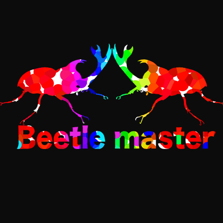 【マスタービートル】おしゃれでカラフルなカブト虫Tシャツ