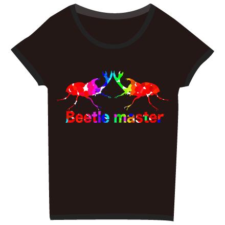 ブラックカラーカブト虫Tシャツ