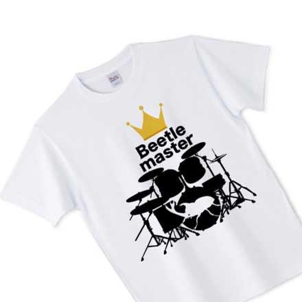 ノーマルカブトムシとドラムのビートルマスターTシャツ