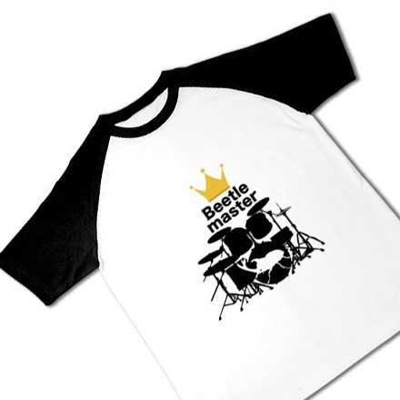 ラグラン半袖ビートルマスターTシャツ