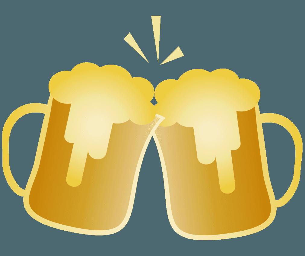 ビールで乾杯のイメージイラスト