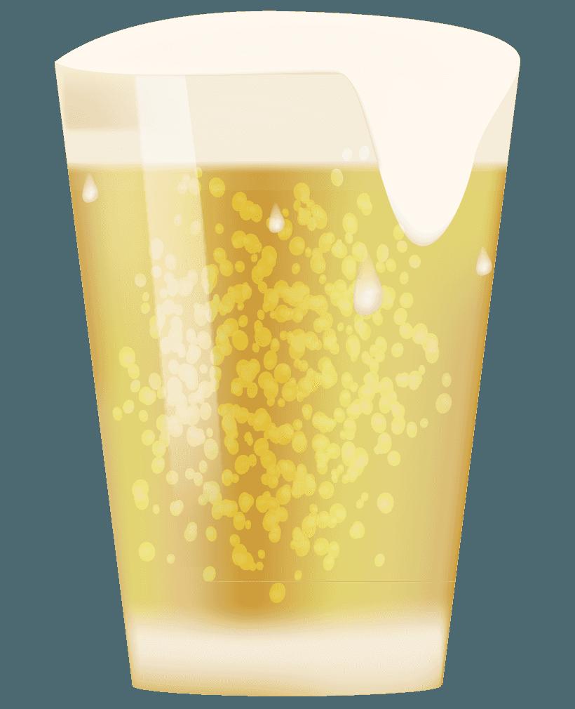 コップに注がれたビールイラスト