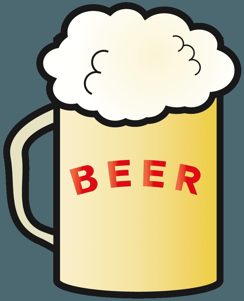 シンプルなビールイラスト