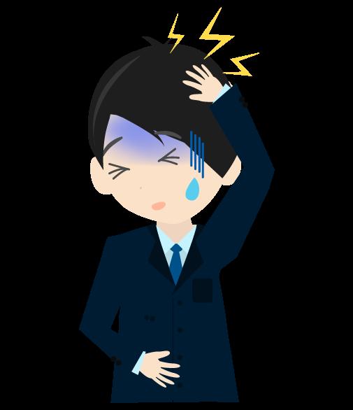 頭痛ビジネスマンのイラスト