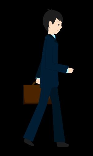 歩くビジネスマンのイラスト5