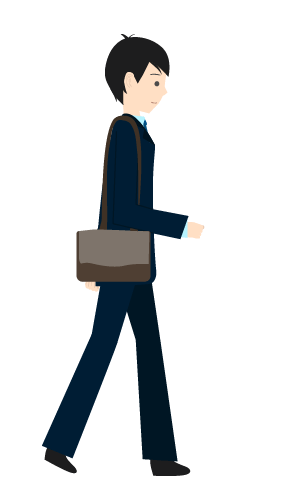 歩くビジネスマンのイラスト6