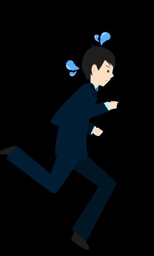 走るビジネスマンのイラスト