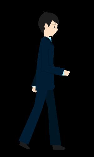 歩くビジネスマンのイラスト2