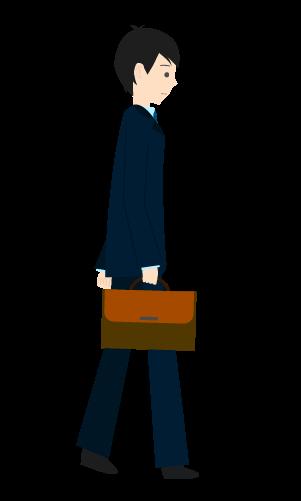 歩くビジネスマンのイラスト3
