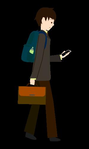 スマホ歩きする人のイラスト4