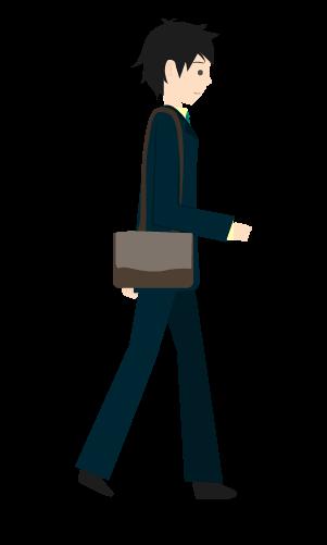 歩くビジネスマンのイラスト4