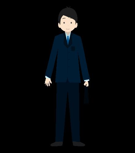 ビジネスマン(正面)のイラスト