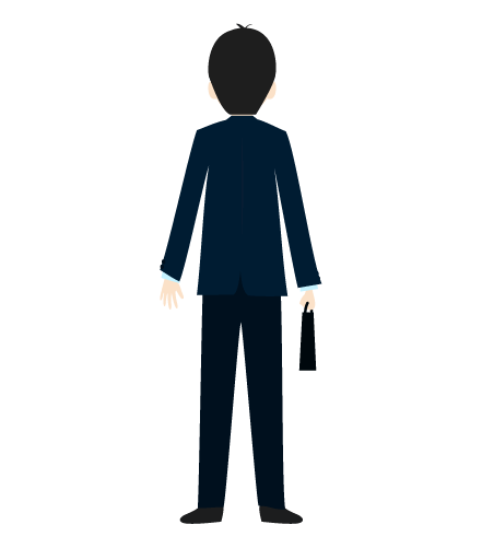 ビジネスマン(後ろ)のイラスト