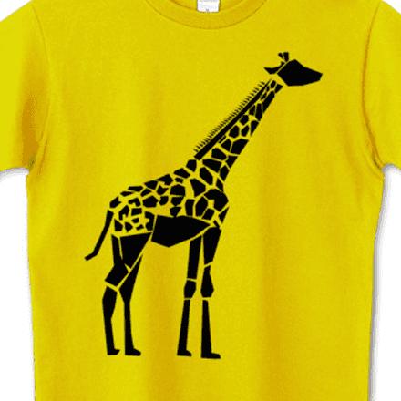 シンプルなキリンのブラックシルエットTシャツ