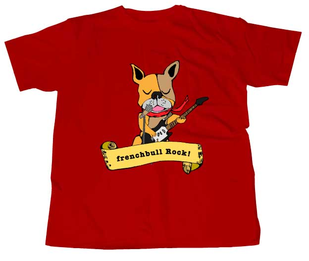 ブルロックTシャツレッド