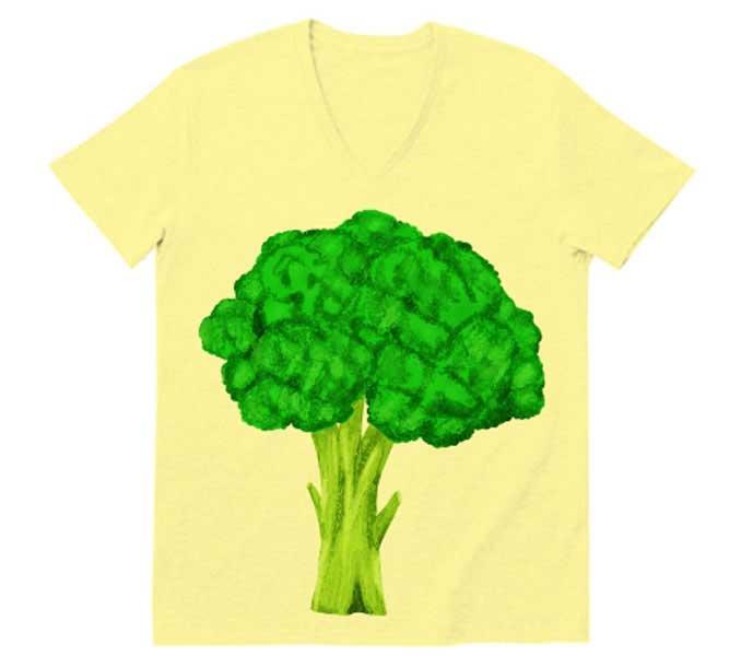 ビックプリントブロッコリーTシャツ