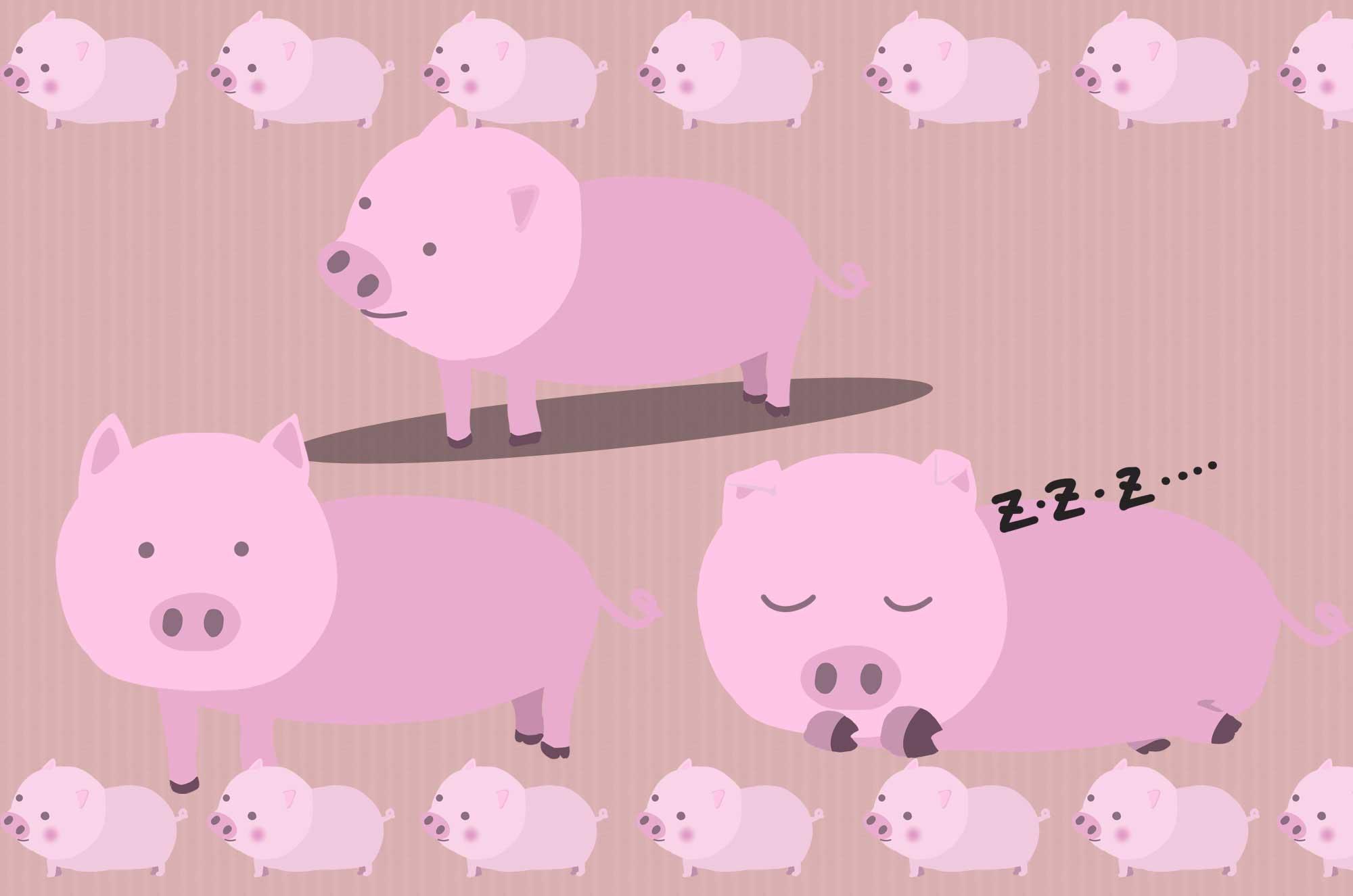 豚イラスト - 手書きのかわいい動物フリー画像素材 - チコデザ