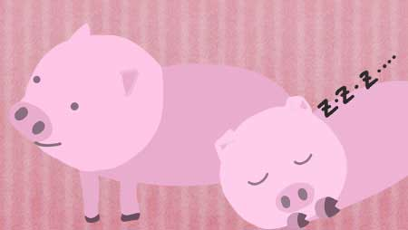 豚イラスト-とってもかわいい動物無料素材シリーズ☆