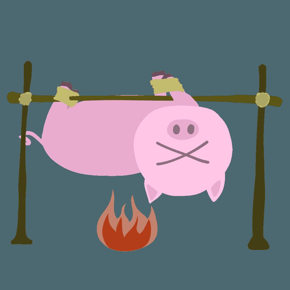 豚イラスト 手書きのかわいい動物フリー画像素材 チコデザ