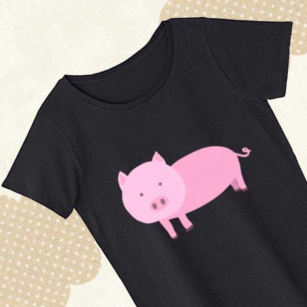 豚Tシャツ - おもしろいブタのキャラクターグッズ