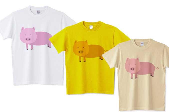 ノーマル豚Tシャツ