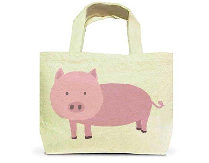 豚トートバッグ
