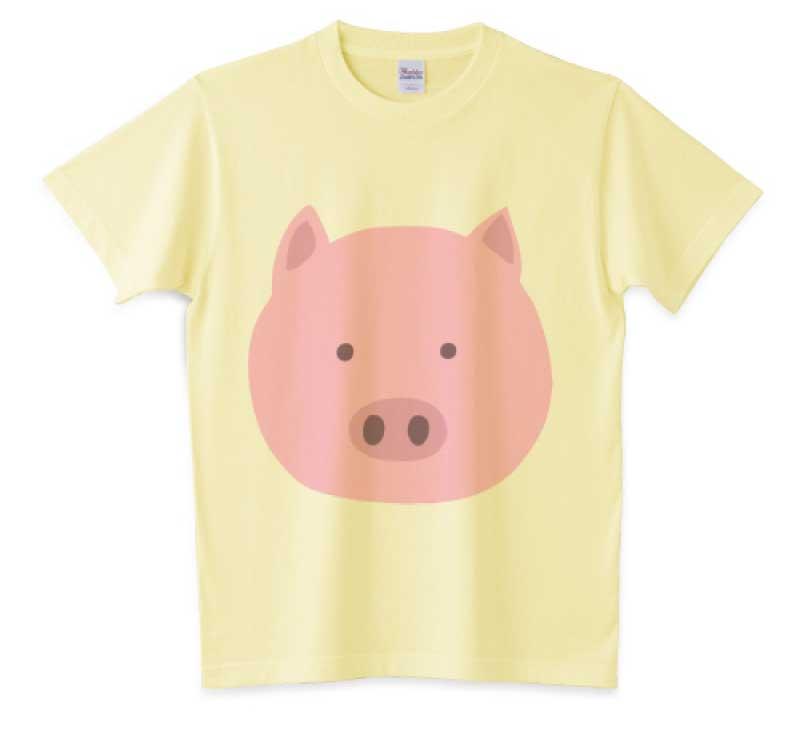 豚の顔プリントT