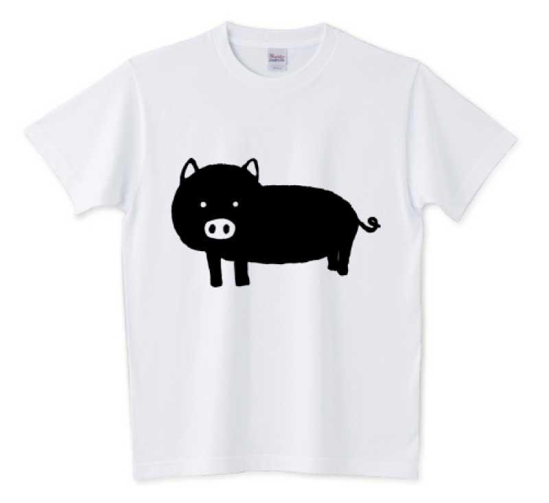 可愛い黒豚Tシャツ