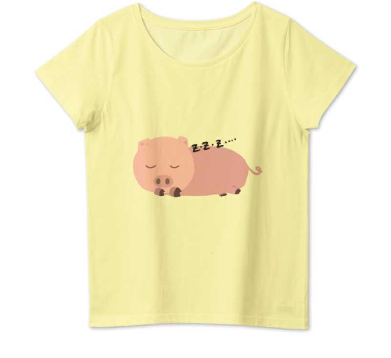 サボリ豚Tシャツ