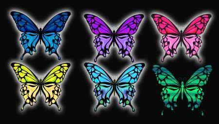 蝶イラスト - 美しいアゲハや文様のチョウチョの無料素材