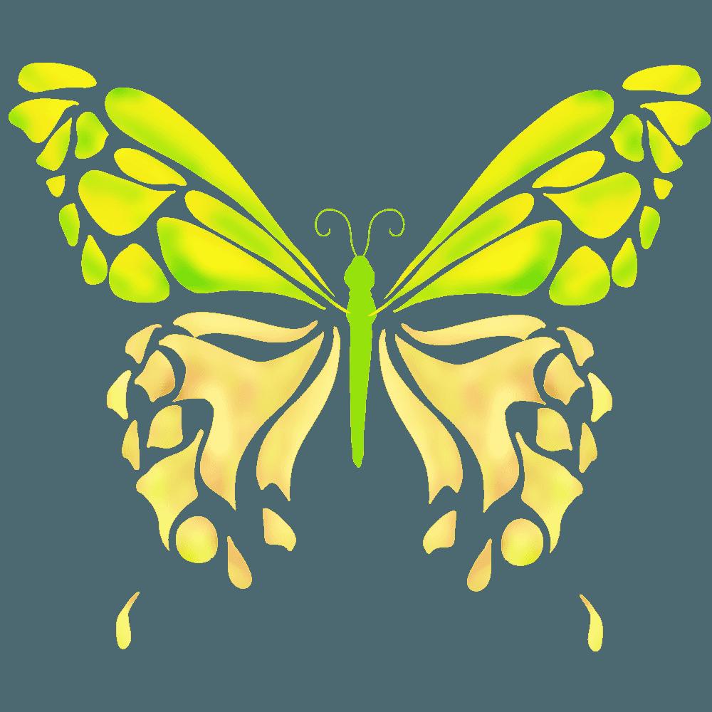アートな黄色い蝶イラスト