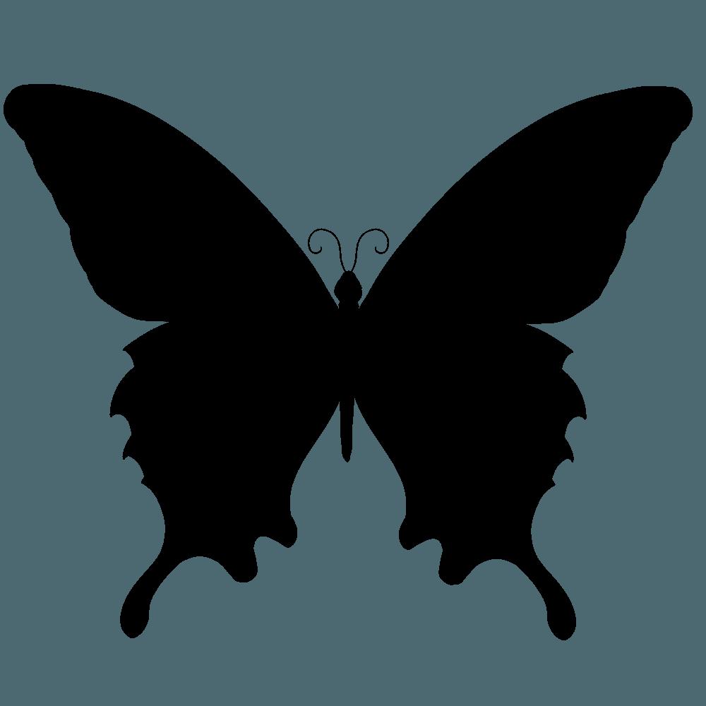 蝶のシルエットイラスト