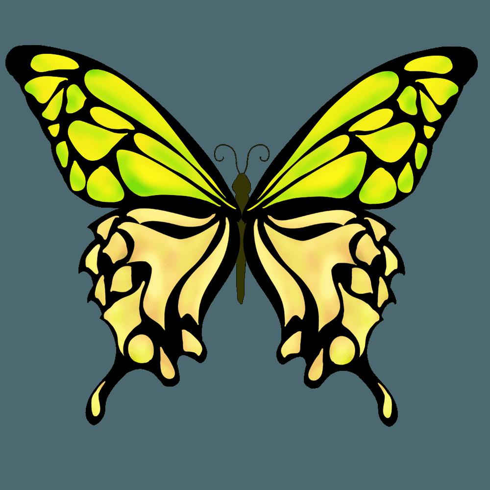 蝶イラスト - 美しいアゲハや文様のチョウチョの無料素材 - チコデザ