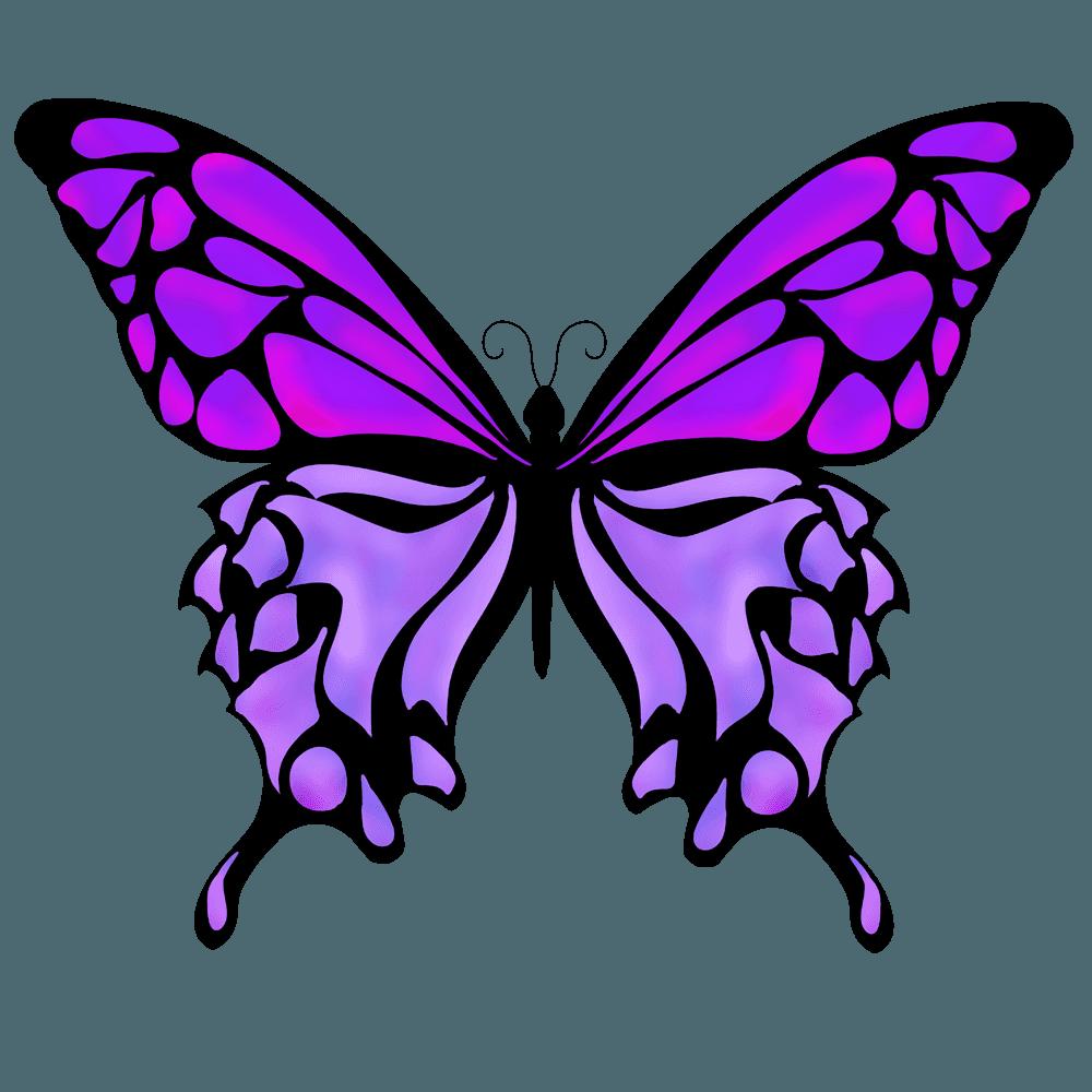 紫の蝶イラスト
