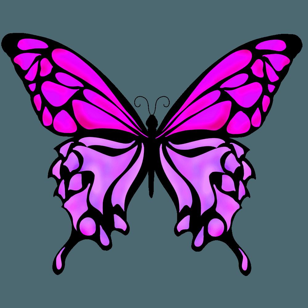 濃い紫色のちょうのイラスト