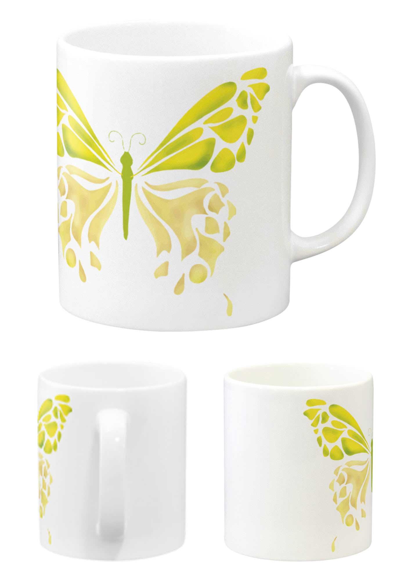 可愛い蝶々のマグカップ