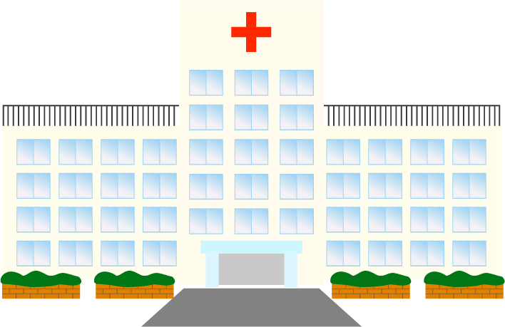 シンプルな病院のイラスト