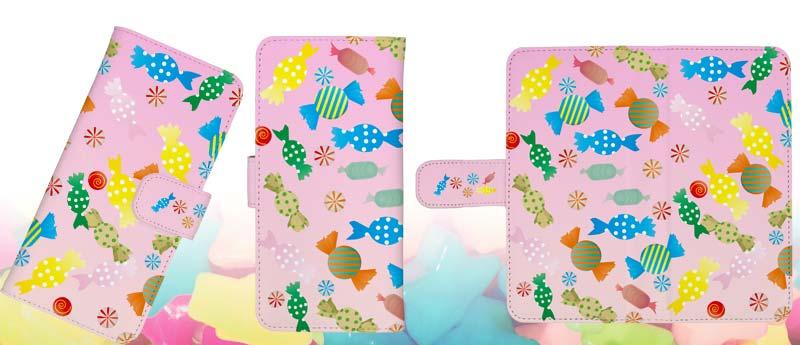 キャンディスマホケースの手帳型スマートホンケース