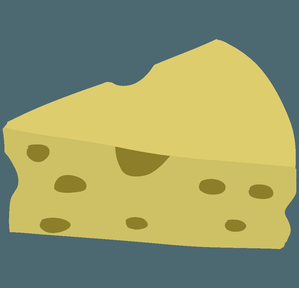 可愛いチーズのイラスト