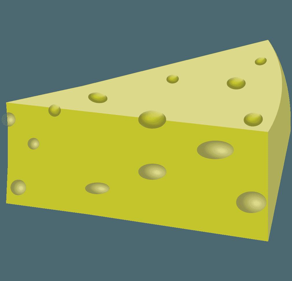 綺麗な穴あきチーズのイラスト