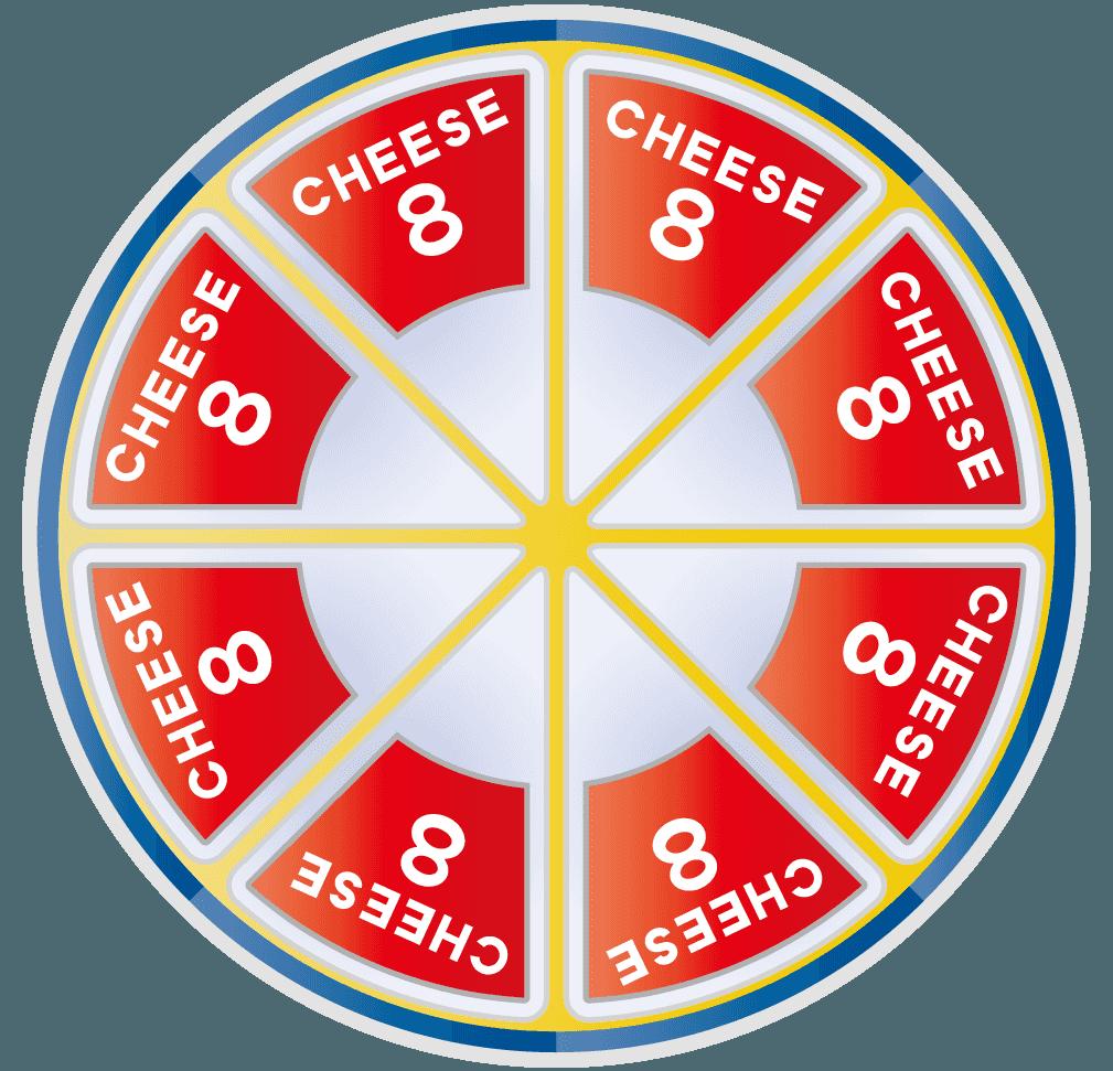 8pチーズのイラスト