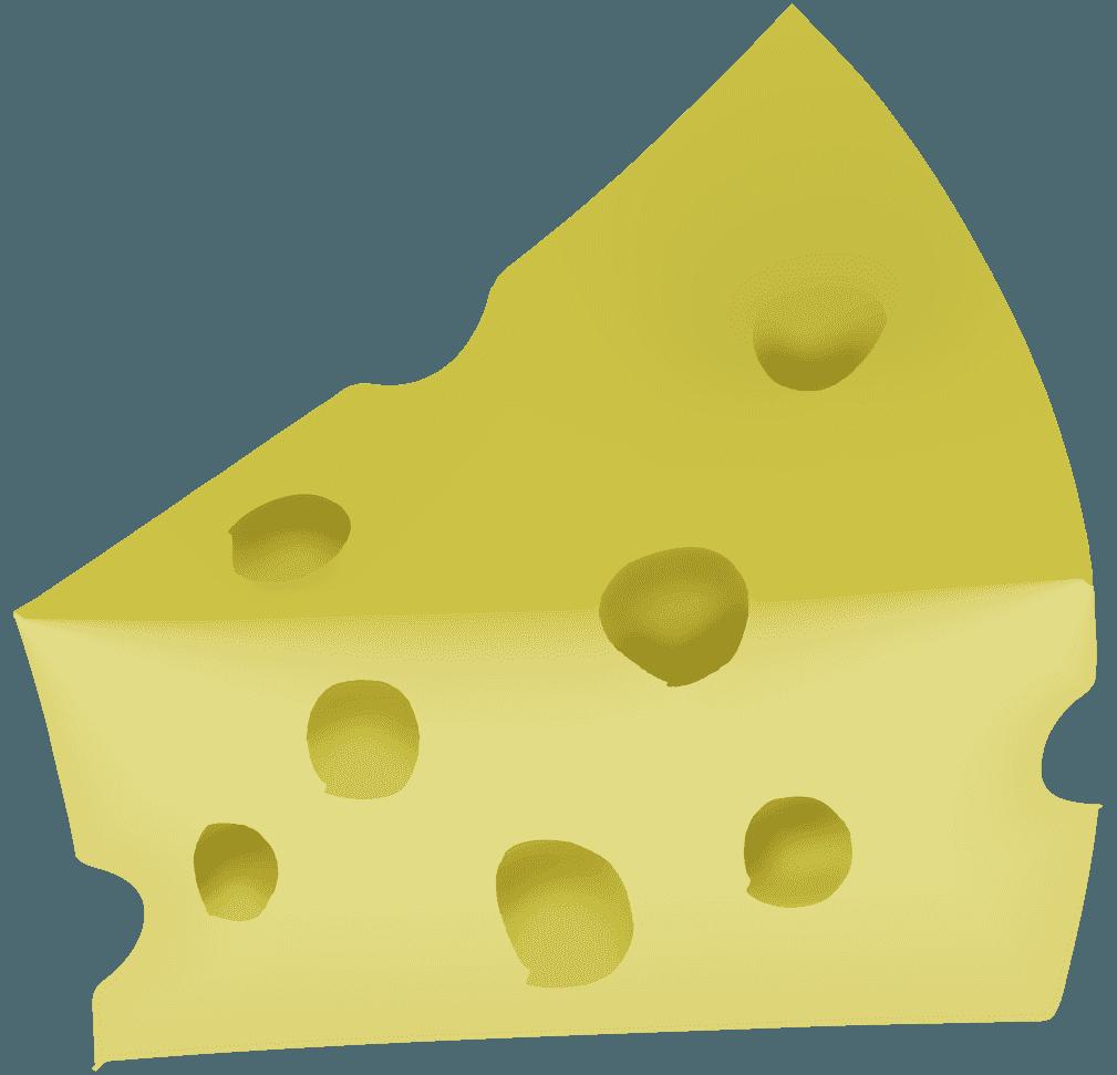 面白い穴あきチーズのイラスト