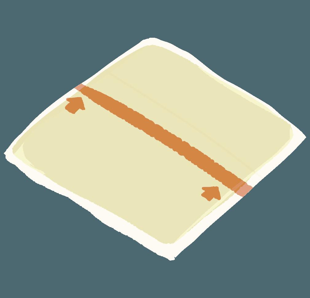 袋から出したスライスチーズのイラスト