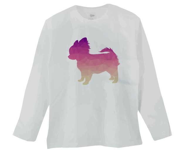 ポリゴンチワワ長袖Tシャツ