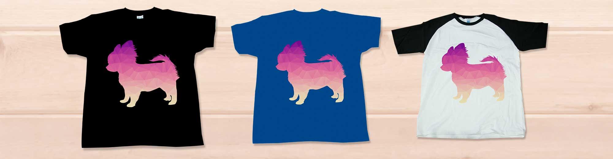 可愛いポリゴンチワワTシャツ
