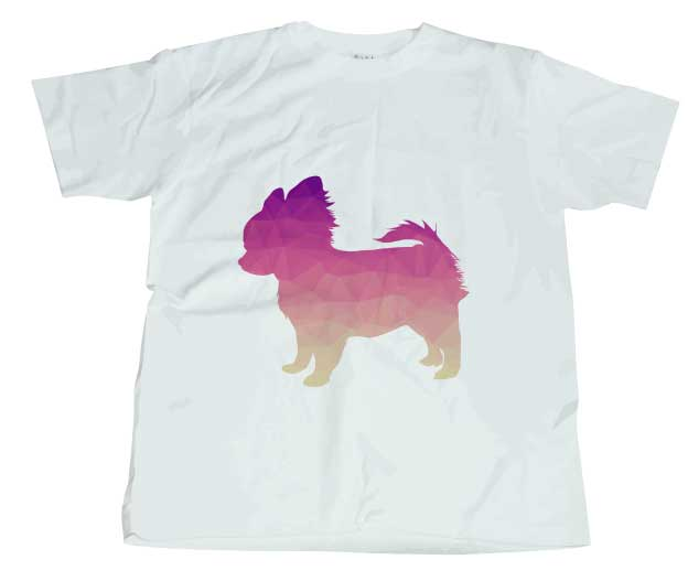 ポリゴンチワワTシャツ ホワイト