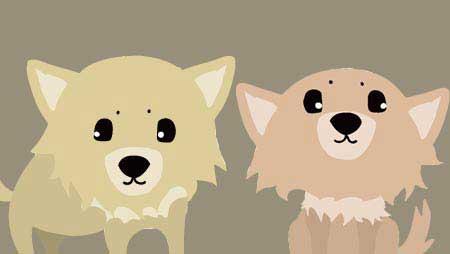 可愛いチワワのイラスト - 面白表情いっぱい犬の無料素材