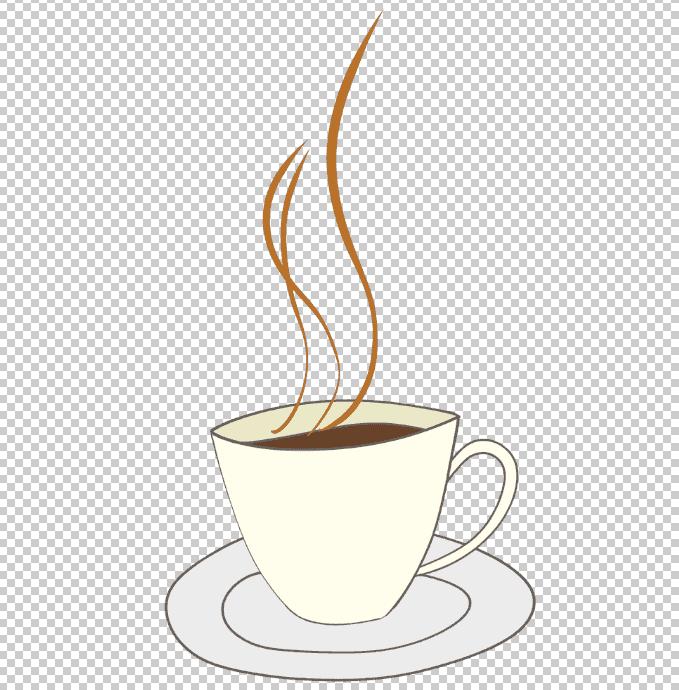 photoshopで開いたコーヒーカップのフリー素材