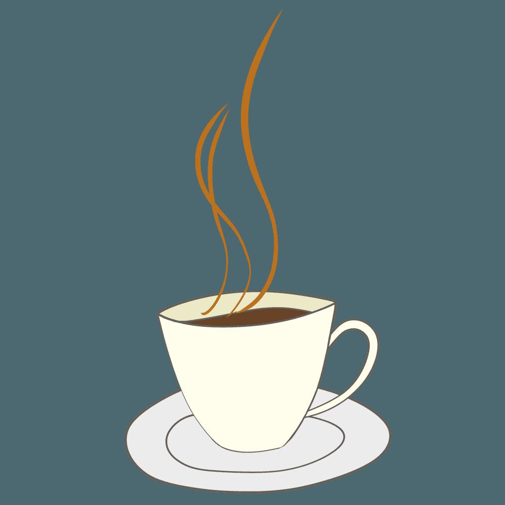 おしゃれなコーヒーカップイラスト